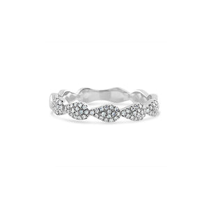 Diamond Drops Ring White Gold