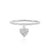 Diamond Heart Tag Ring White Gold