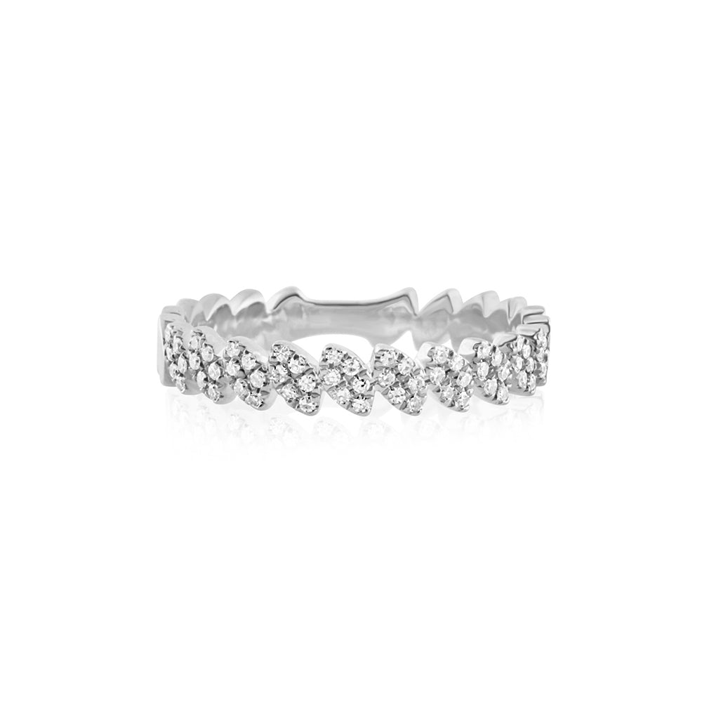Diamond Marquise Band Ring White Gold