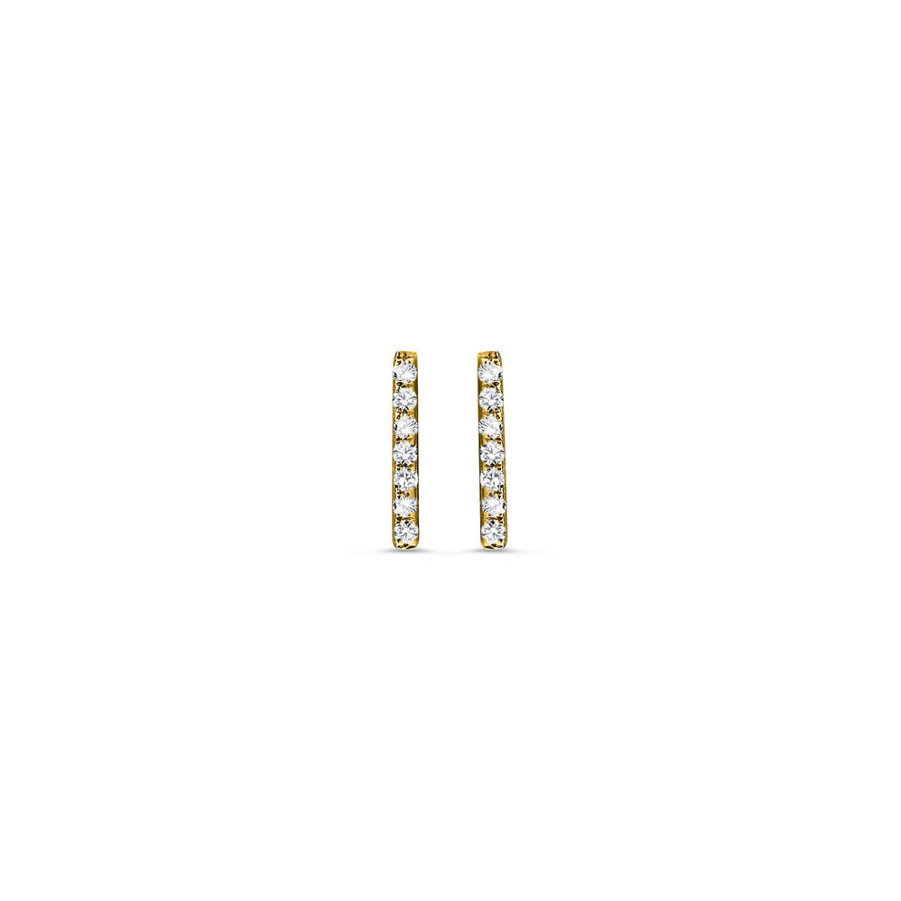 Diamond Bar Earrings Yellow Gold