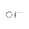 Diamond Bezel Circle Earrings White Gold