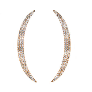Diamond Crescent Ear Crawler Rose Gold