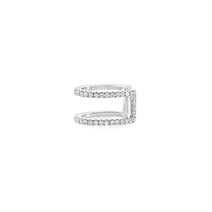 Diamond Double Row Ear Cuff White Gold