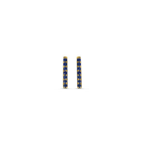 Sapphire Bar Earrings Yellow Gold
