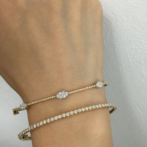 Diamond Bangle White Gold