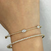 Diamond Marquise Bangle White Gold