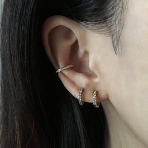 Diamond Ear Cuff Yellow Gold
