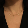 Five Diamond Triangle Necklace Rose Gold
