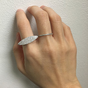 Diamond Pave Marquise Ring Yellow Gold