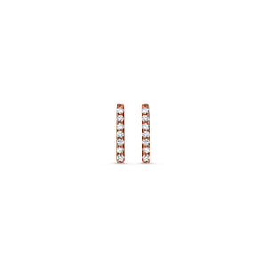 Diamond Bar Earrings Rose Gold