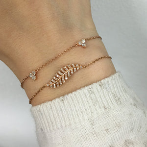 Diamond Trinity Bracelet Rose Gold