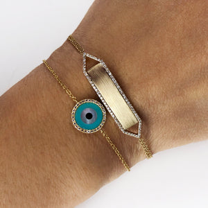 Round Evil Eye Bracelet Rose Gold