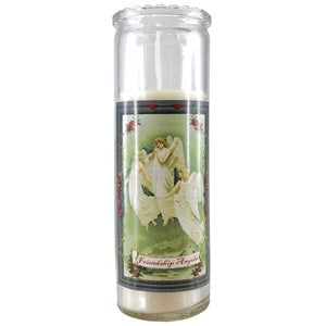 Decorative Candle Jars with story Virgin of Grace