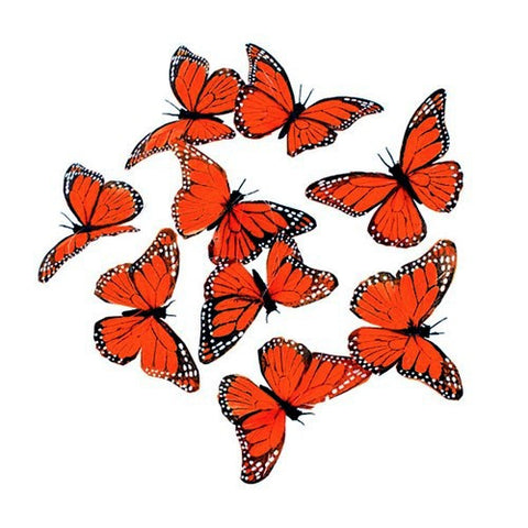 "MONARCH 9 BUTTERFLY GARLAND 4.5x78""L"