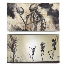 Decorative Matches, 2 boxes, Dancing Skeletons