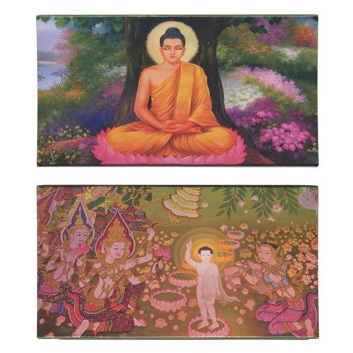Decorative Matches, Garden Buddha,Set of 2 Matchboxes