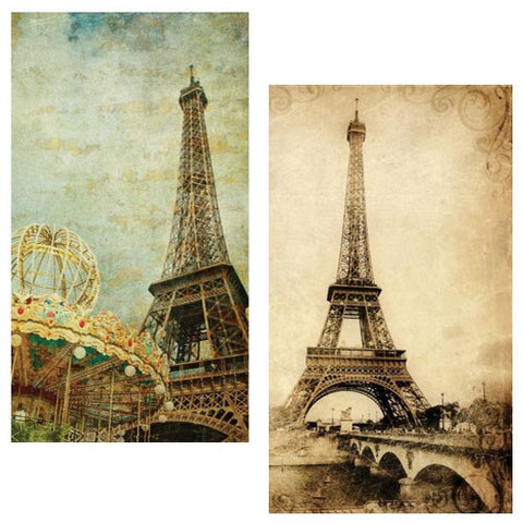 Decorative Matches, Set of 2 Boxes, Eiffel Tower