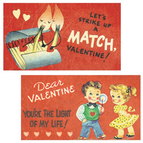 Decorative Matches, set of 2 boxes, Valentine Light