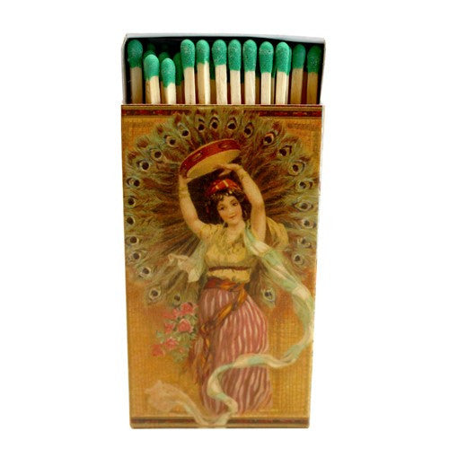 Decorative Matches, Peacock Dancer, Set of 2 Matchboxes