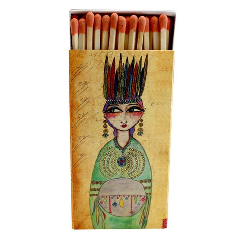 Decorative Matches ,Native Princess, Set of 2 Matchboxes
