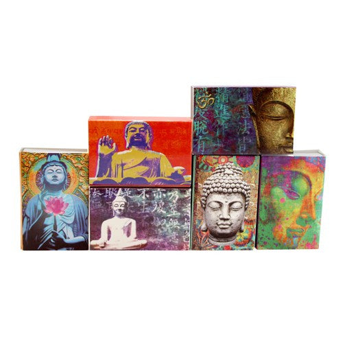 BUDDHA MINI MATCHBOX 6 PIECE SET 2.188x1.5x.5""