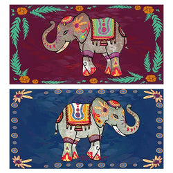 Decorative Matchboxes:Set of 2 Match Boxes, Festival Elephants