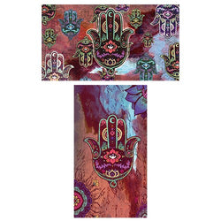 Decorative Matchboxes:Set of 2 Match Boxes, Hamsa Matchbox