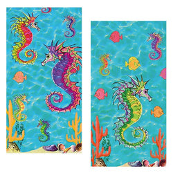 Decorative Matchboxes:Set of 2 Match Boxes, Seahorse Ocean