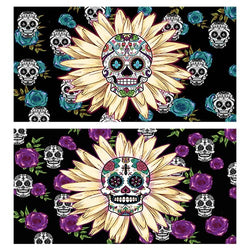 Decorative Matchboxes:Set of 2 Match Boxes, Daisy Skull
