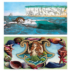 Decorative Matchboxes:Set of 2 Match Boxes, Seashell Mermaid