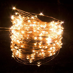 DEW DROPS COPPER STRING LIGHTS WARM WHITE 150 LEDs 50'L