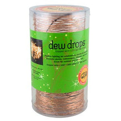 DEW DROPS COPPER STRING LIGHTSS WARM WHITE 300 LEDs 100'L