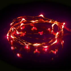 DEW DROPS COPPER STRING LIGHTS RED 20 LEDs 6.5'L