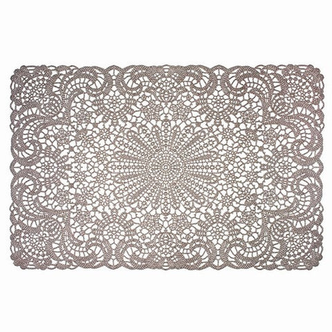 "TAUPE/STONE VINYL PLACEMATS 18x12""L"