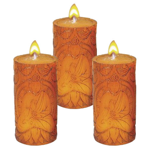 "BUDDHA VOTIVE BROWN UNSCENTED 2.5""h"
