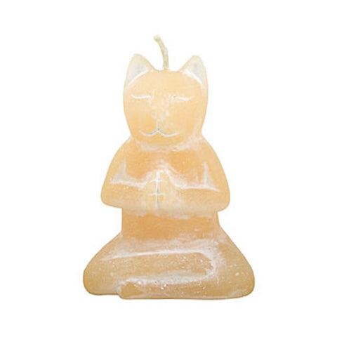 "NIRVANA CAT CANDLE WHTE JASMINE SCENT 2.5x2x3.75""H"