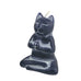 "NIRVANA CAT CANDLE BLACK 2.5x2x3.75""H"