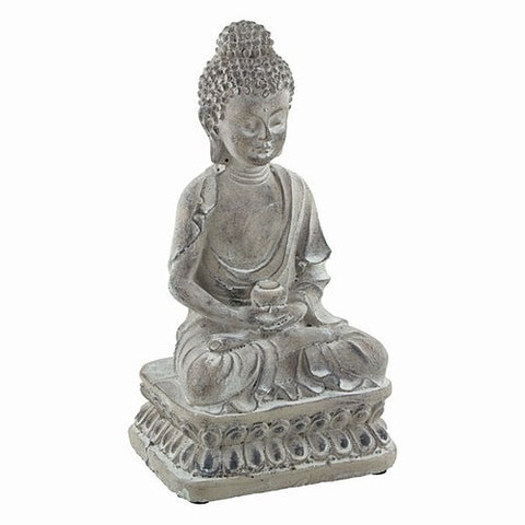 "BUDDHA WITH OFFERING BOWL 4.5x3.5x8.5""h"