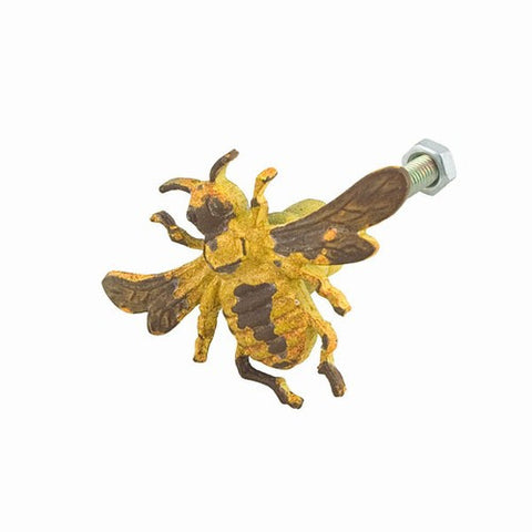 Yellow Bee Drawer Dresser Cupboard Iron Pull Knob (pack of 2 pcs)