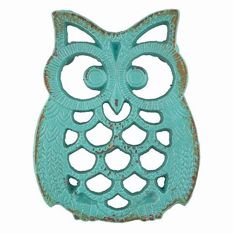 Blue Iron Owl Trivet