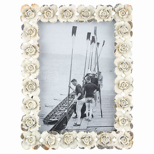 "ROSIE BLANC PHOTO FRAME 4.625x6""h"