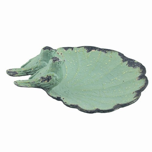 "LITTLE BIRDS LEAF TRAY GREEN 5.25x4.375x1.5""h"