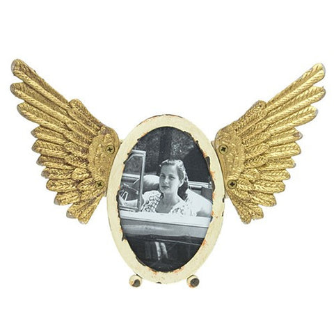 "ANGEL PHOTO FRAME OVAL 9.5x6.5""h"