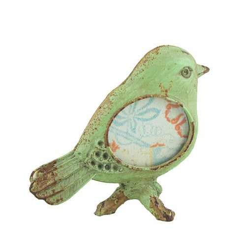"LITTLE BIRD PHOTO FRAME GREEN 2.875x2.5""H"