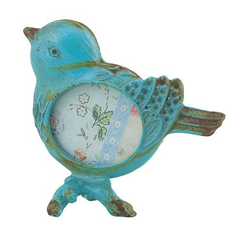 "LITTLE BIRD PHOTO FRAME BLUE 2.125x2.25""H"