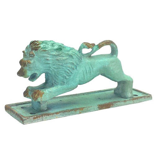 "LION DRAWER PULL ANTIQUE TURQUOISE 5x1.25x2.25""h"
