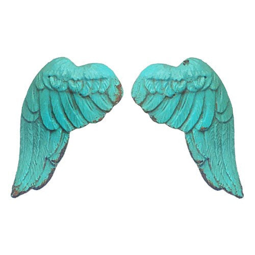 "ANGEL WING KNOBS 2 PIECE 1.5x1x2.75""H +1"" SCREW"