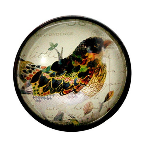 "GLASS BIRD KNOB 1.5D x1.5""L + screw"