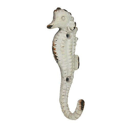 SEAHORSE WALL HOOK ANTIQUE 1.75x4.87