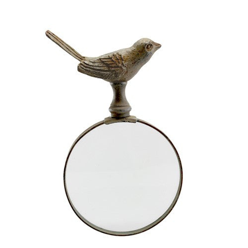 "RABBIT STAND With MAGNIFYING GLASS 3.5x3.25x7.125""H"